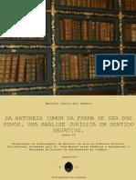 Tese da natureza comum da forma de ser dos povos. Uma análise jurídica em sentido negativo. Anexo IV-Marcelo Paiva dos Santos.pdf