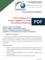 FicheTechniquedeLalicenceAppliquéeenSystèmed'Info