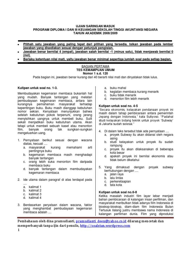 Soal Pembahasan USM STAN 1999-2008 99c7b8da38