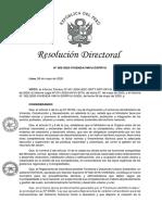 Resolución Directoral que aprueba Guía