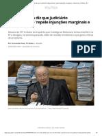 Celso de Mello diz que Judiciário independente 'repele injunções marginais e ofensivas' _ Política _ G1