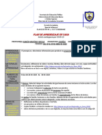 FORMATO PLAN DE APRENDIZAJE 3° ESPAÑOL ABRIL