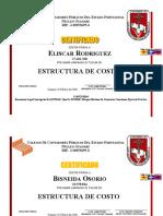Certificado estructura
