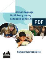 Assessing Language Proficiency During Extended School Closures