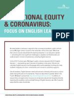 Educational Equity & Coronavirus