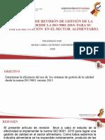 EXPOSICIÓN ARTICULO DE REVISION GESTIÓN DE CALIDAD