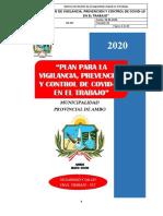 PLAN PARA LA VIGILANCIA, PREVENCIÓN Y CONTROL DE COVID - 19 EN EL TRABAJO (1)