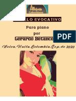 PASILLO EVOCATIVO. Para piano. Gerardo Betancourt.