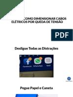 AULÃO COMO DIMENSIONAR CABOS ELÉTRICOS POR QUEDA DE TENSÃO