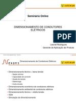 Seminário Online DIMENSIONAMENTO DE CONDUTORES ELÉTRICOS
