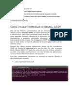 Instalar nextcloud en Ubutu server 16
