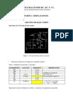 Simulaciones con transistores BJT BC EC CC