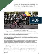 Bbc.com-Coronavirus en Ecuador Las Multitudinarias Protestas Por Las Drásticas Medidas Económicas y Recortes