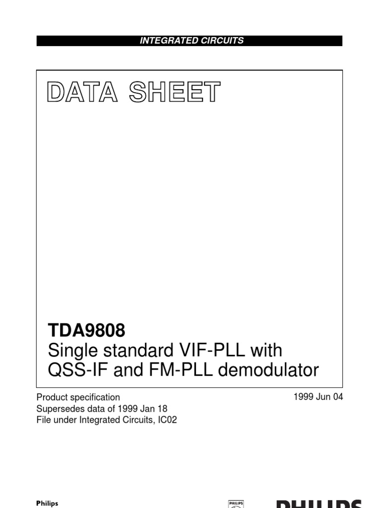 datasheet detector (radio) amplifierFunction And Data Of Pins Of Tda9808t Integrated Circuit #11