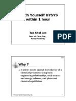 Teach Hysy in 1 Hour