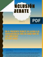 Conclusión Debate