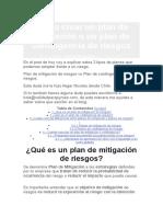 1 Como crear un plan de mitigación o un plan de contingencia de riesgos