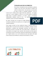 FINES EXTRAFISCALES DE LOS TRIBUTOS