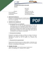 INFORME PSICOLÓGICO DE IDARE MARCELA