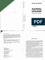 Manual Lüscher. Manual para el uso clínico y no clínico de Test de Lüscher. Nevio del Longo