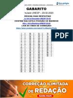 Gabarito-1Simulado-UNESP-Vestibulares