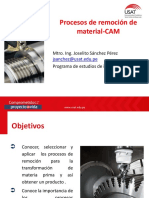 Procesos de remoción de material -CAM