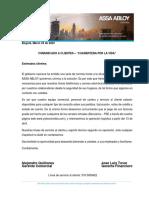 Comunicado a clientes ASSA ABLOY Colombia - Cuarentena por la vida.pdf
