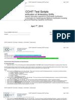 CCHIT Certified 2011 Ambulatory EHR Test Script 20100326