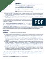 DESARROLLO DEL PROGRAMA DERECHO EMPRESARIAL I - 9 SEMANAS