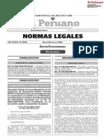 Lista de procedimientos en APP en infraestructura exentos de suspensión de plazos