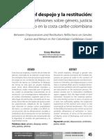 Entre el despojo y la restitución.pdf