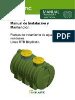 Manual de Instalación, operación y mantención plantas