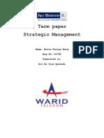 Strategic Mgt warid telecom