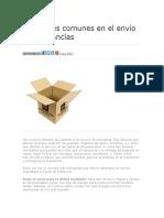 10 errores comunes en el envío de mercancías