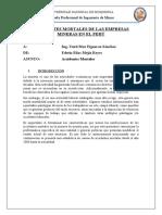 ACCIDENTES MORTALES DE LAS EMPRESAS MINERAS EN EL PERU