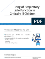 Monitoring of Respiratory Muscle Function in Critically Ill