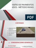 DISEÑO DE PAVIMENTOS RIGIDOS - MÉTODO INVIAS