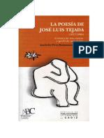 La Poesia de Jose Luis Tejada - Ana-sofía Pérez-bustamante Mourier