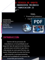 Clasificacion de soldadura Grupo 1