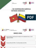 PRESENTACION CONVENIO DE COOPERACIÓN AGRÍCOLA VIETNAM-VENEZUELA.ppt