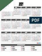 Download 2021 Printable Calendar with Holidays