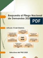 Respuesta al Pliego Nacional de Demandas 2020