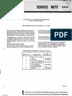 HP Service Note 211A 1A