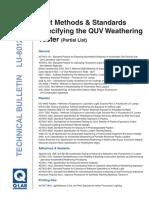 normas válida para ensayos QUV