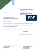 modelo de carta de rescisão de contrato
