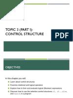 Cp 3 - Control Structure (Part 1)