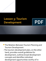 Lesson 3 Tourism Development