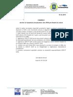 COMUNICAT referitor la transmiterea documentelor către ISCIR prin firmele de curierat