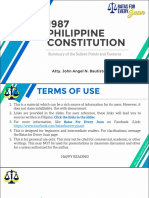1987 Constitution (Salient Points and Features)