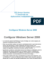 Instalar y configurar Windows 2008